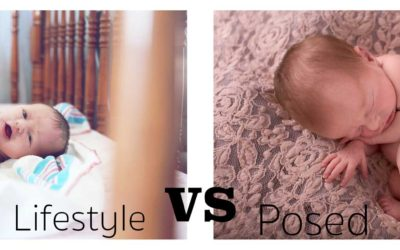 Lifestyle session vs posed newborn session